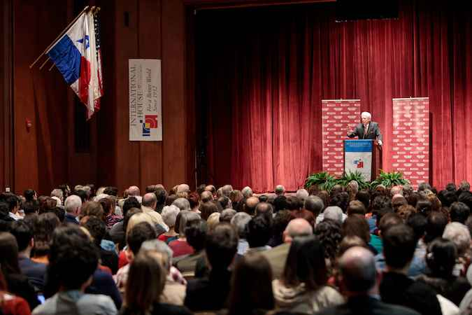 Mario Vargas Llosa delivers the first of four Berlin Family Lectures, April 24, 2017