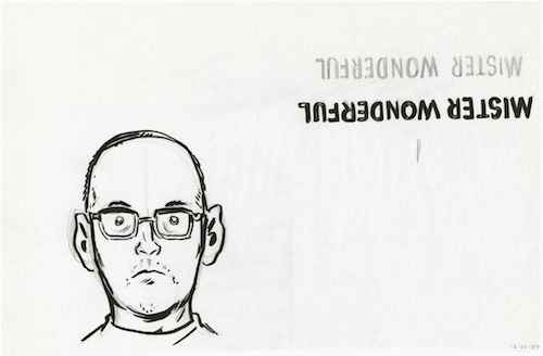 Clowes' self-portrait for _Mister Wonderful_, courtesy of UChicago Special Collections Research Center