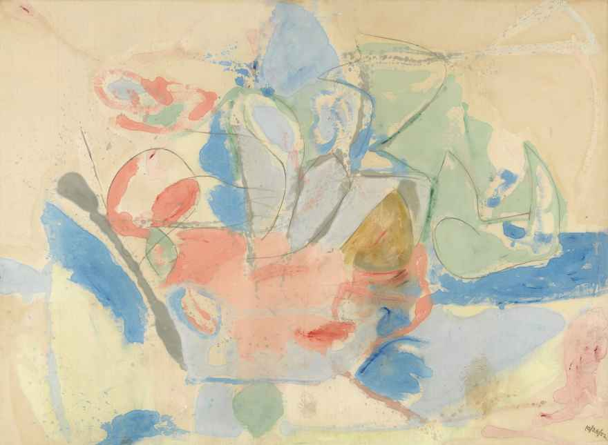 """""""Mountains and Sea"""" by Helen Frankenthaler in the National Gallery of Art"""