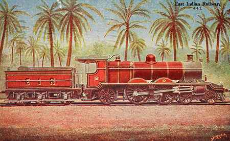 East Indian Railway. Postcard from Digital South Asia Library, The University of Chicago Library.