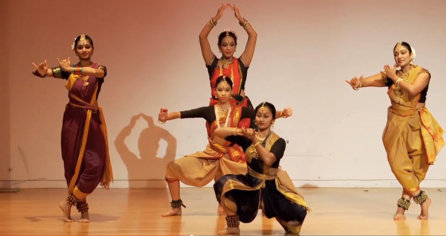"Kalapriya Dance at Chicago Humanities Festival presentation on ""Dancing the Divine: Hindu and Buddhist Stories"""