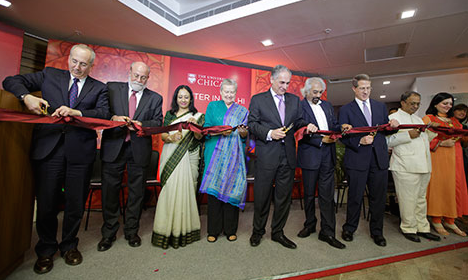 Center in Delhi ribbon-cutting ceremony