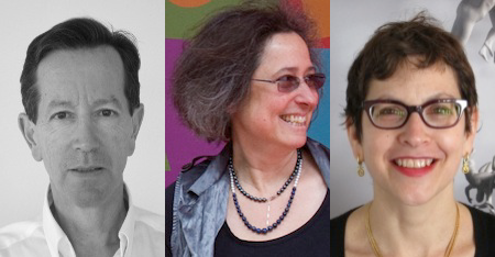 From left to right: Alain Bresson, Jessica Stockholder, Judith Zeitlin