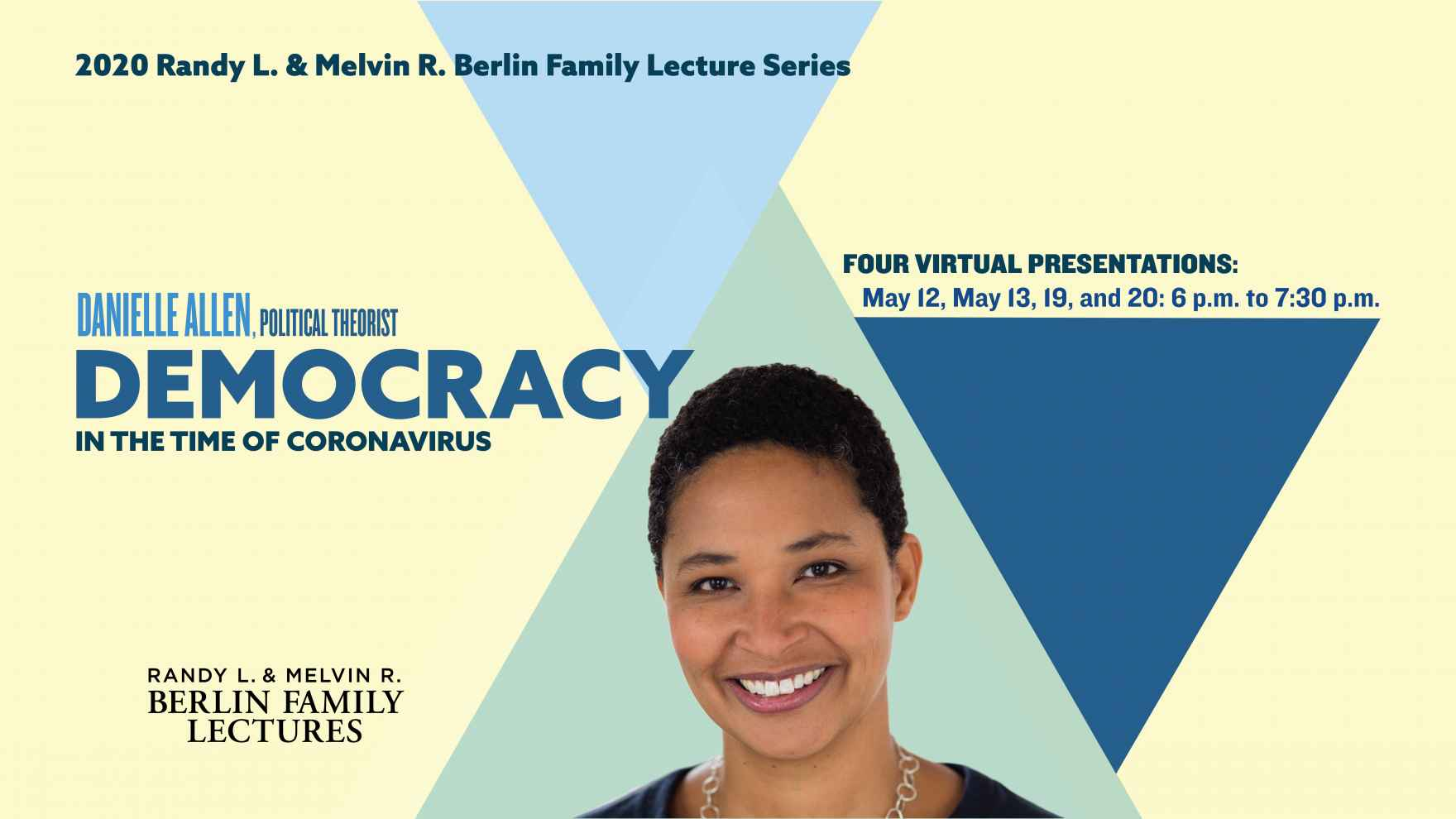 Virtual 2020 Berlin Family Lectures on May 12, 13, 19, and 20
