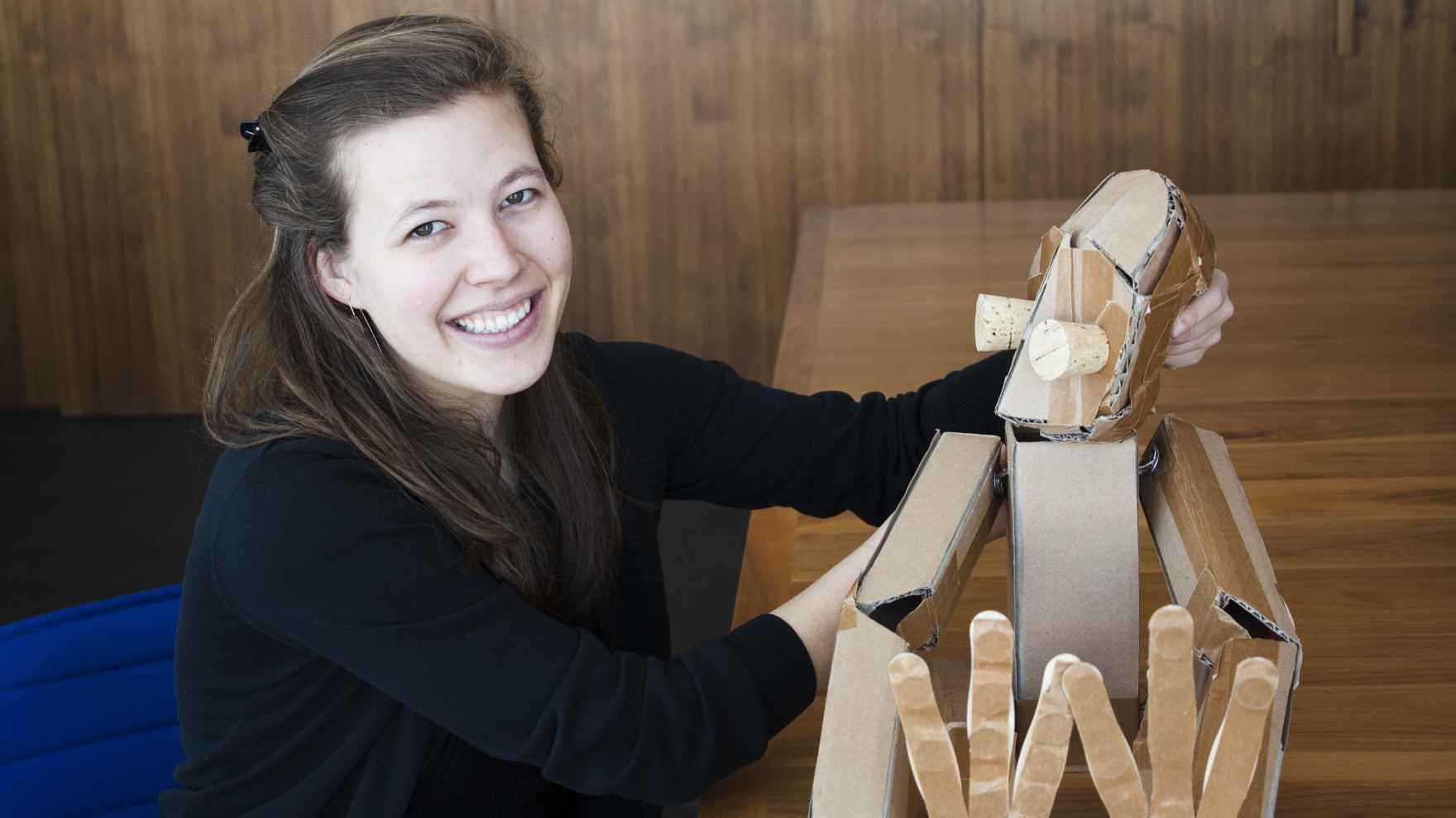 Marissa Fenley made her puppet Gordon—named for modernist theater pioneer Edward Gordon Craig—at a workshop hosted by theater company Rough House in 2016.