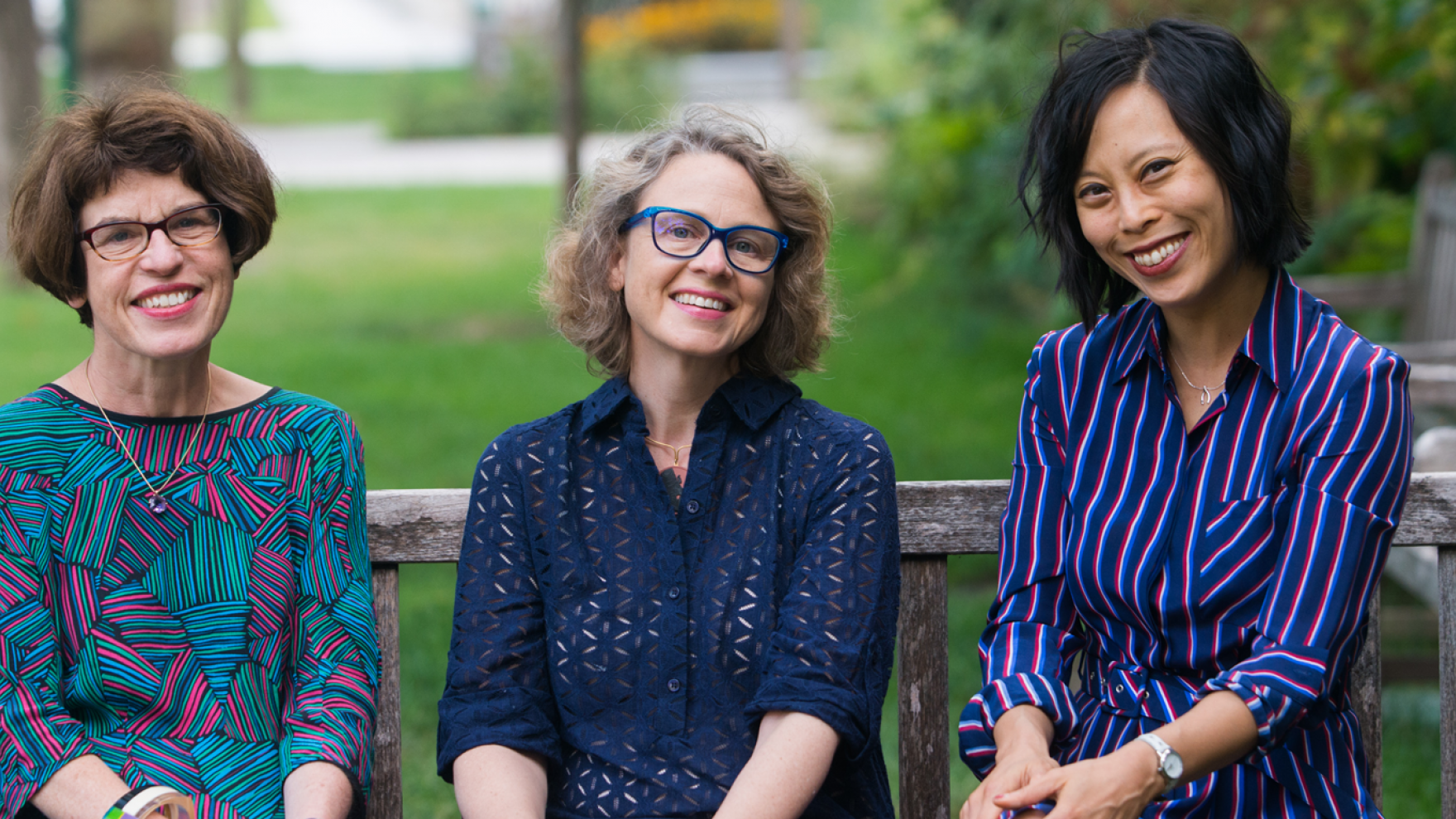 New faculty members Josephine McDonagh, Ellen MacKay, and Sianne Ngai