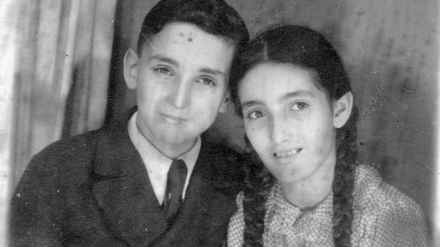 Karin Zacharias (right) and her brother Hans Peter Zacharias, pictured in 1941 on the day of his bar mitzvah in Shanghai.