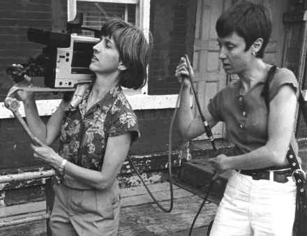 Eleanor Boyer (left) and Karen Peugh shoot some video footage. Photo is courtesy of Eleanor Boyer.