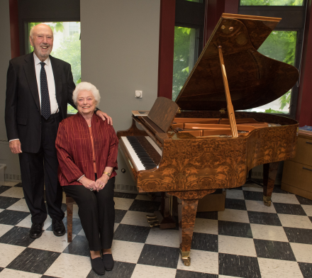 Barbara E. and Richard J. Franke with Bösendorfer piano