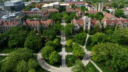 Aerial view of the University of Chicago campus