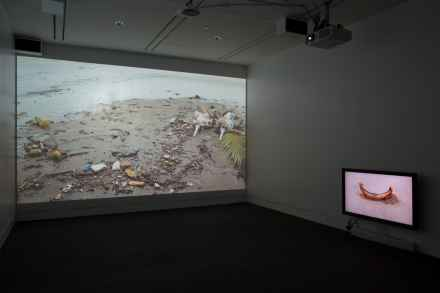 Tejal Shah, Between the Waves, 2012, 4-channel video installation with sound, 85 in. Photo by Clare Britt.